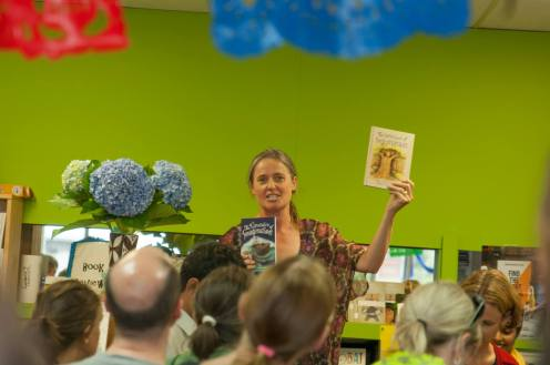 Helen Wadsworth (whom I now work for) introducing my books at my first launch party.