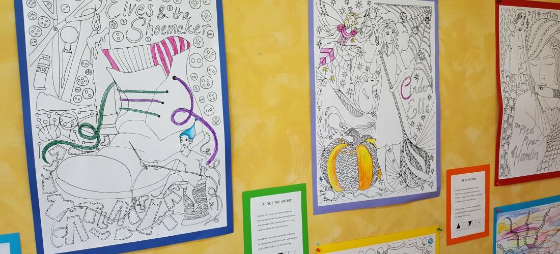 Artweek Auckland 2016 at the Dorothy Butler Children's Bookshop